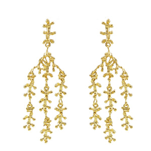 Vigga Chandelier Coral Earrings