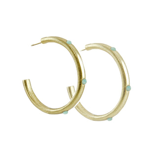 Milla Embellished Hoop Earrings