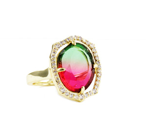 Greta Adjustable Open Frame Ring