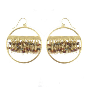 Luana Multi-Garnet Drop Earrings