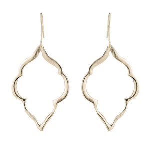 LINA OPEN FILGREE LEAF EARRINGS
