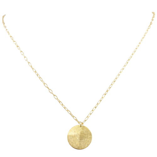 Mie Minimalist Coin Necklace