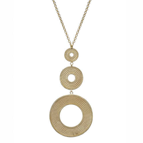 Effy Long Embossed Pendant Necklace