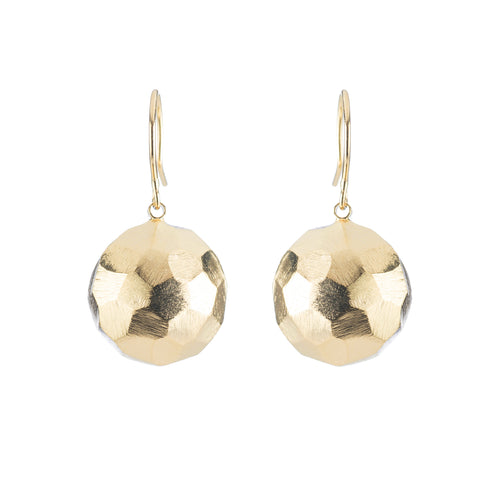 FRANCINE FACETED DOME EARRINGS