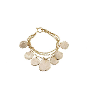 Magda Molten Charms Chain Bracelet