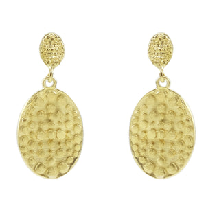 Aella Embossed Oval Earrings