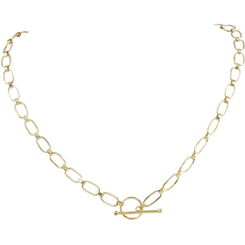 Lilia Small Link T Bar Necklace