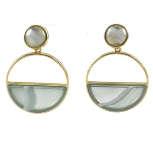 LUCY LEE DOUBLE CIRCLE POST EARRINGS