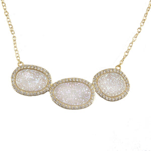 BELINDA THREE STONE NECKLACE
