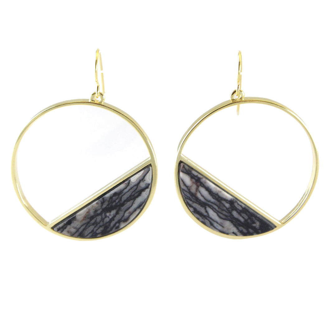 SABELLA MODERNIST CIRCLE EARRINGS