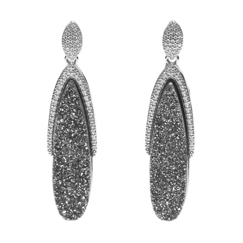 Hallie Druzy Oval Earring