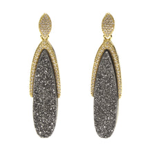 HALLIE DRUZY OVAL EARRINGS