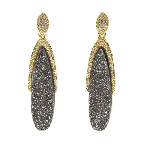 Hallie Druzy Marquise Earrings