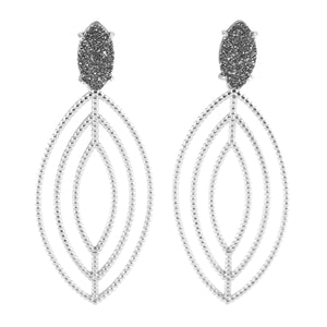 DORIS CONCENTRIC MARQUISE SHAPED EARRINGS