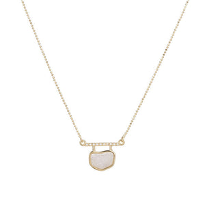 QUINCE ORGANIC SHAPE DRUZY NECKLACE