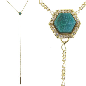 BUCKIE DAINTY GEOMETRIC Y NECKLACE