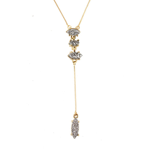 Shine Multi Stone Lariat Necklace