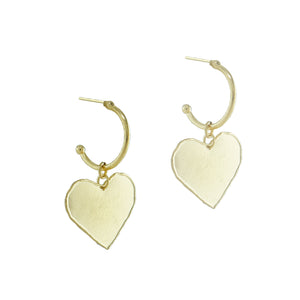 Aviv Heart Hoop Earrings