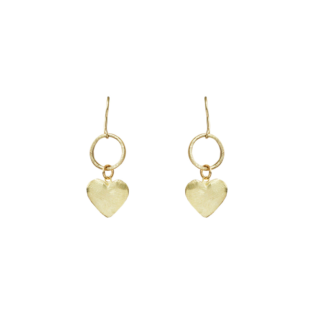 Aurore Heart Drop Earrings