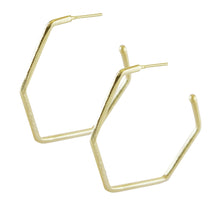 HEX POLYGON HOOP EARRINGS
