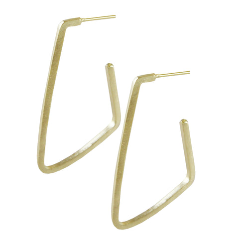 JANNA ANGULAR HOOP EARRINGS