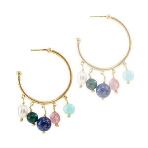 Kleio Beaded Hoops