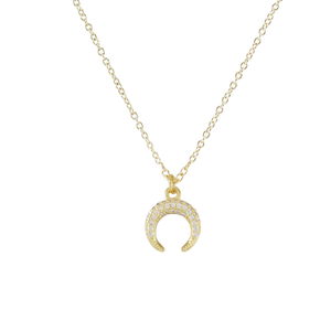 Horn Charm Short Necklace