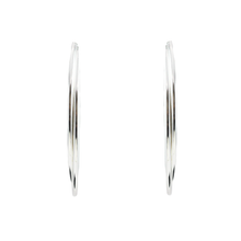 Mirabelle Sterling Silver Double Large Hoops