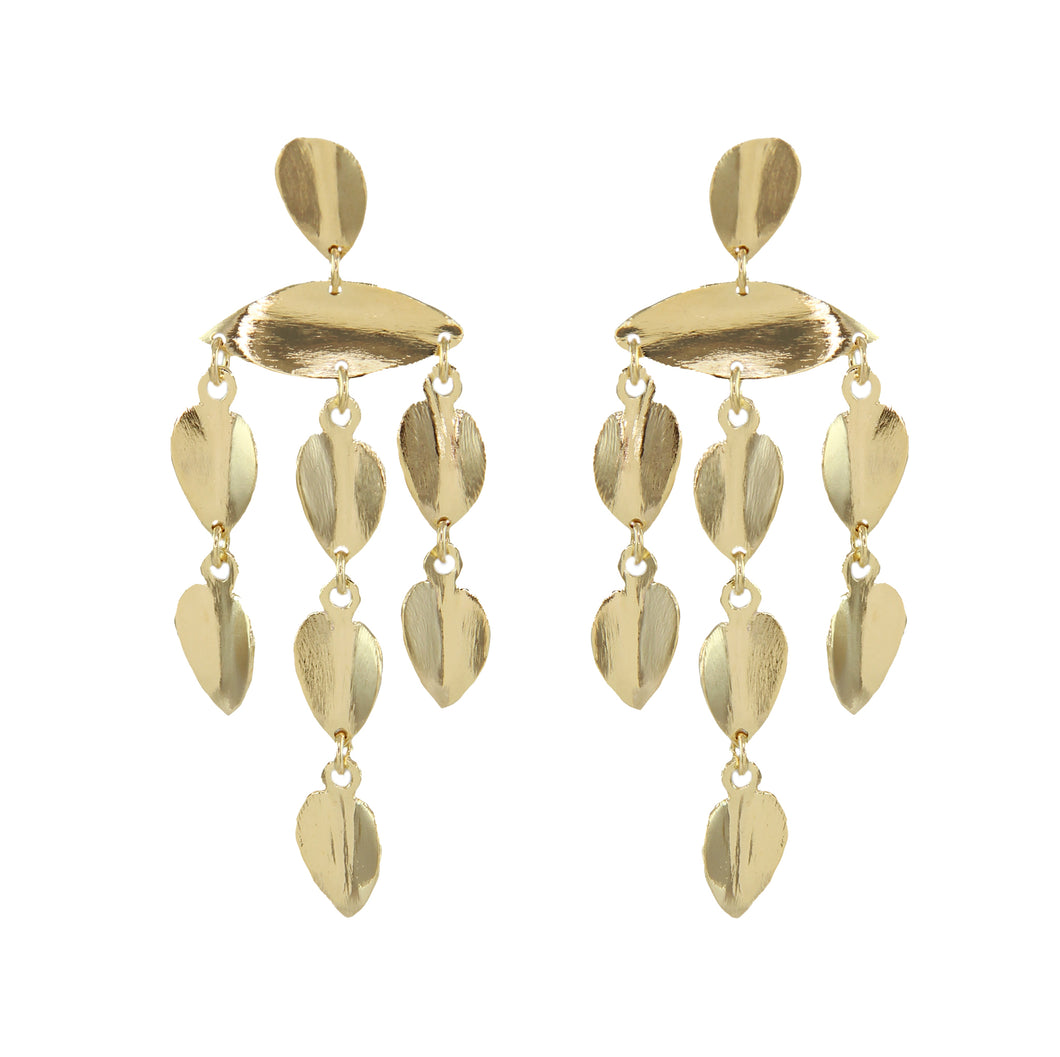 Makara Chandelier Leaf Earrings