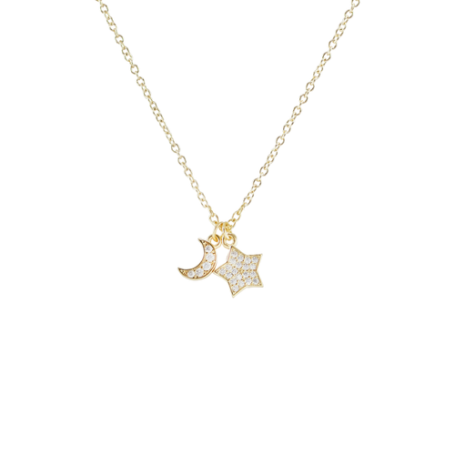 Night Sky Charms Short Necklace