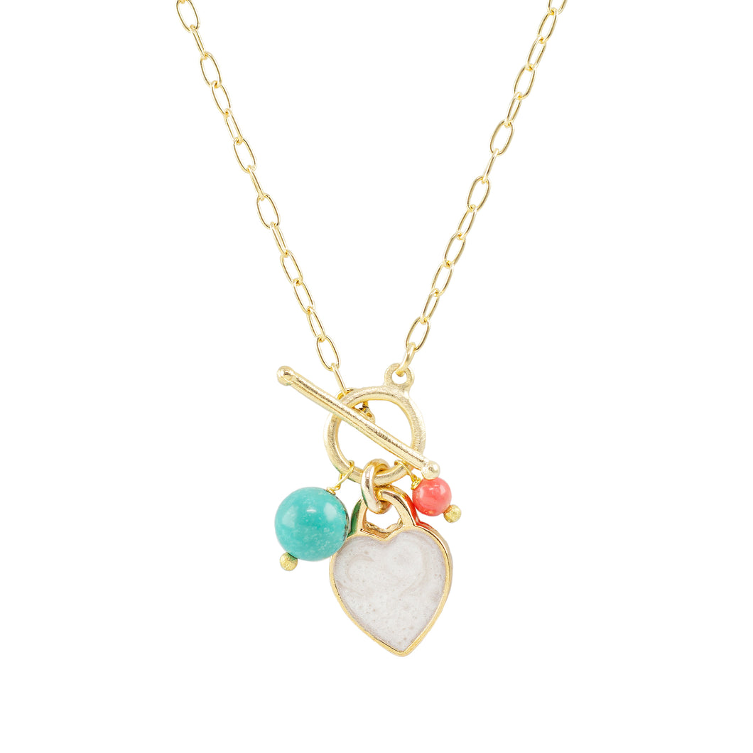 Andrea Enamel Heart Necklace