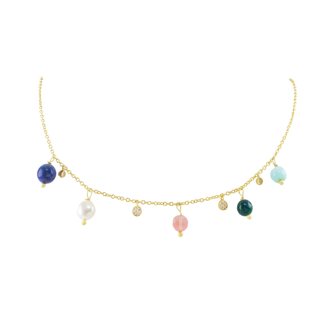 Althea Beaded Short Necklace