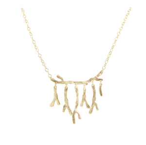Ratna Organic Shape Drop Necklace