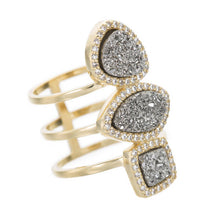 Marcia Moran Monet R210 Ring in Titanium Druzy