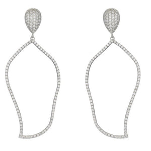 Rana Cubic Zirconia Drop Earrings
