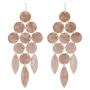 Marcia Moran Beatrix Classic Statement Chandelier Earrings ROSE GOLD