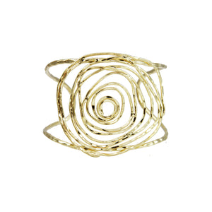 Marcia Moran 18K gold cuff with a rose