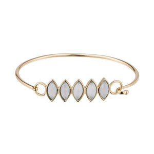CECE MARQUISE STONE ROW BANGLE WITH FISHHOOK CLOSURE