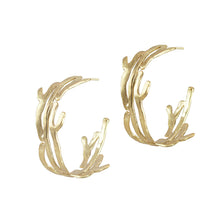 Sophy Organic Shape Hoops