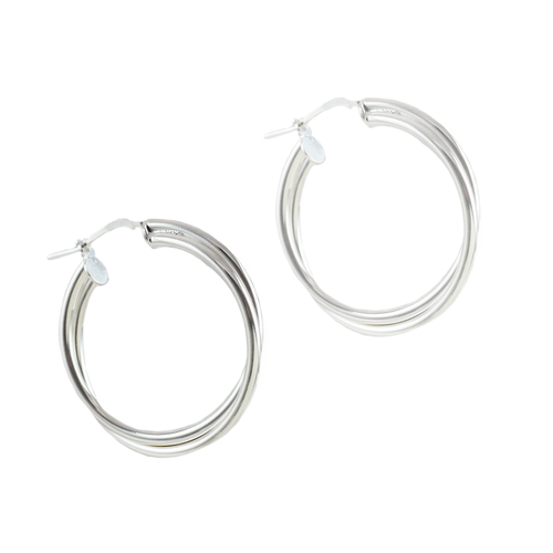 Eden Sterling Silver Double Small Hoops