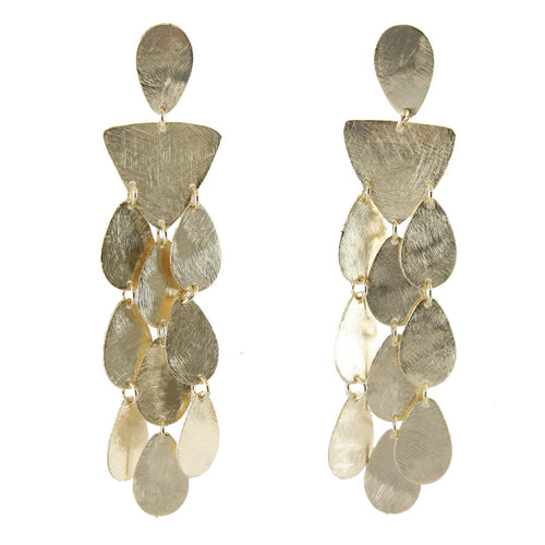 Marcia Moran br290 triangle and teardrop chandelier earrings