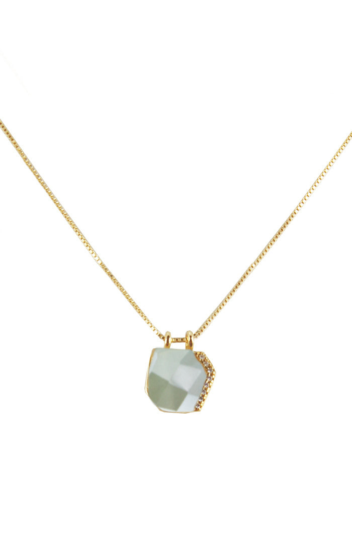 Varsha Single Geometric Stone Necklace