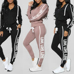 Perimedes slim running set Women Gym Clothes Spandex Stripe Zipper Long Sleeve Pullove Sport Tops+Long Pants Set#g40 low sale