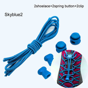 Stretching Lock lace 22 colors a pair Of Locking Shoe Laces Elastic Sneaker Shoelaces Shoestrings Running/Jogging/Triathlon - jazdiscount.com