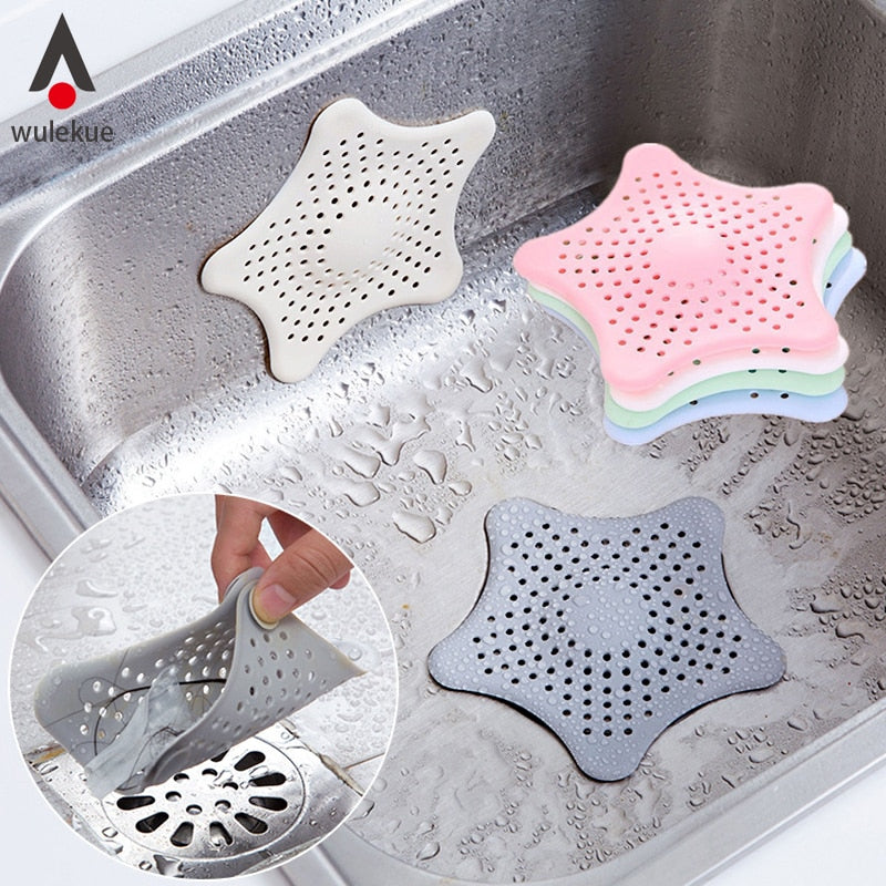 Wulekue Kitchen Gadgets Accessories Star Outfall Drain Cover Basin Sink Strainer Filter Shower Hair Catcher Stopper Plug - jazdiscount.com