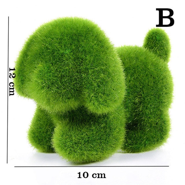 Novelty Handmade Artificial Turf Grass Animal Easter Rabbit Home Office Ornament Room Office Decor Easter Bunny Handiwork Gift - jazdiscount.com