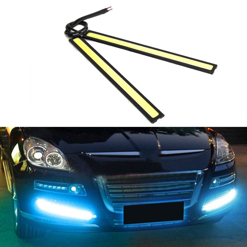 Universal Waterproof Daytime Running lights COB Fog Lamp Car Styling Led Day light DRL Lamp - jazdiscount.com