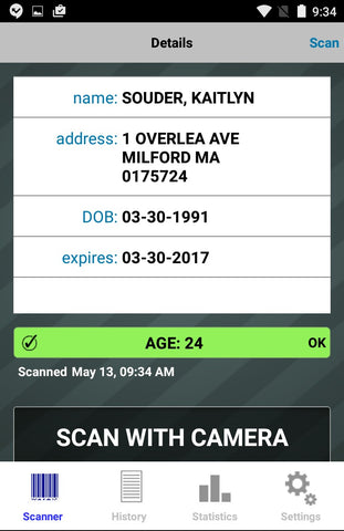 Android ID Scanner App