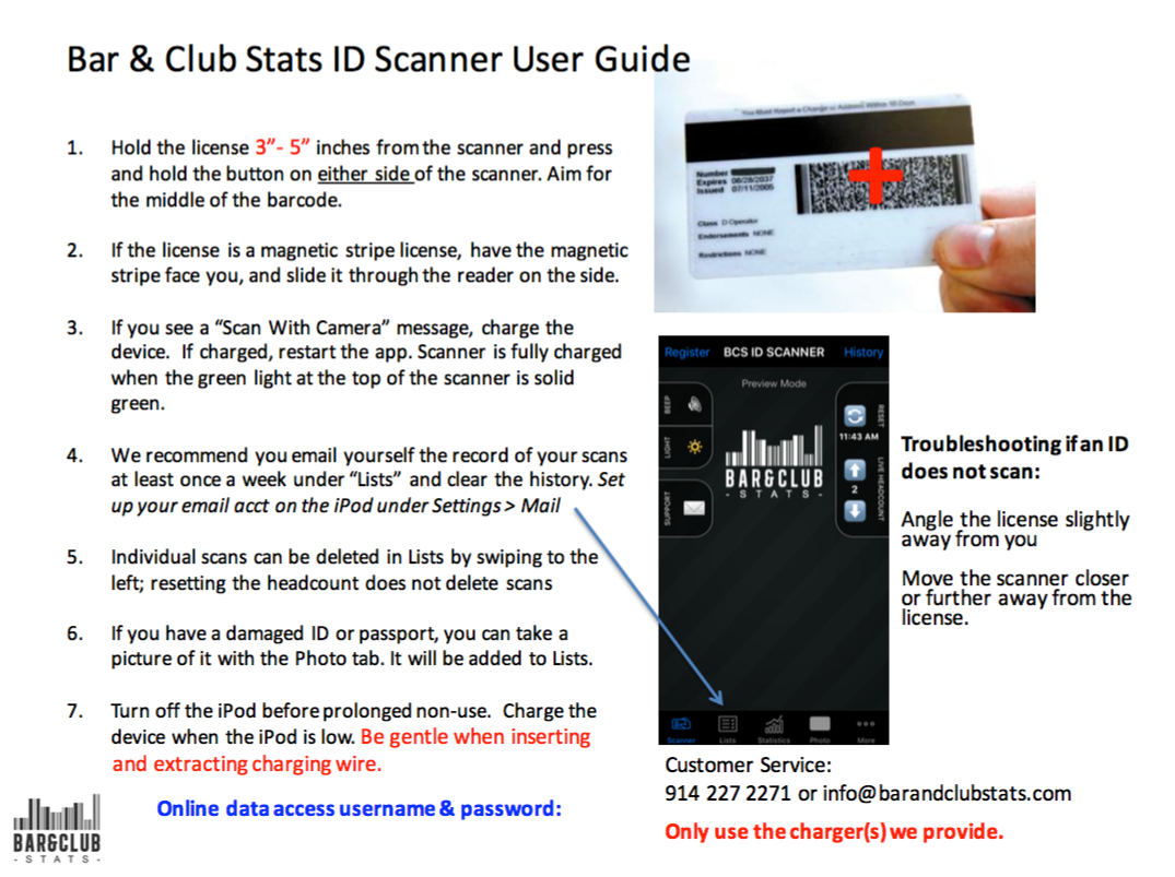ID Scanner User Guide