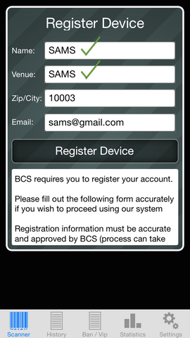 ID Scanner Registration - Correct